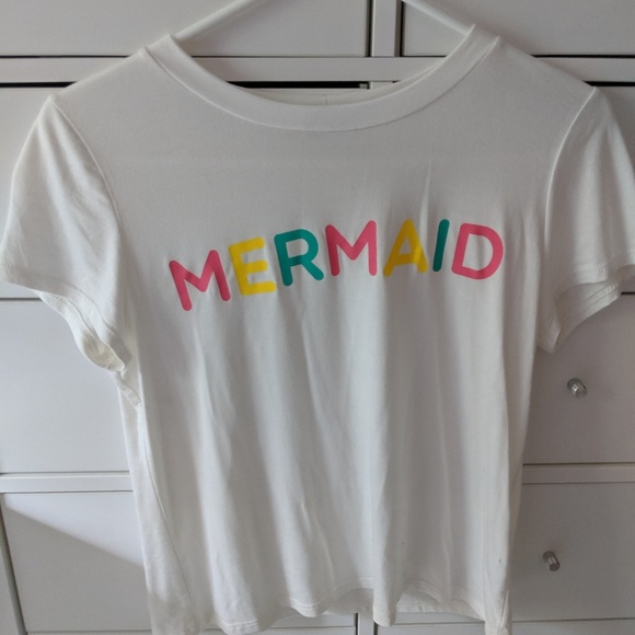 TeenBell Tops - Mermaid Cropped T-Shirt